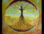 Abstract Tree HUGE Painting ORIGINAL Art - Tree of Life - Modern Painting Tree Art - Made 2 Order - Original Artwork by BenWill