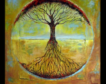 Abstract Tree HUGE Painting ORIGINAL Art - Tree of Life - Modern Painting Tree Art - Made 2 Order - Original Artwork by BenWill