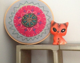 Mandala embroidery wall hanging