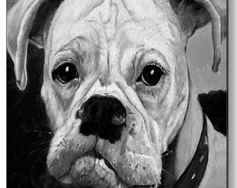 Pet Portrait - Boxer Custom Dog Portrait - Boxer Dog Painting - Pet Portraits  by NC