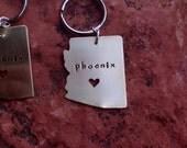 Custom State or Country Keychains with Free Personalization