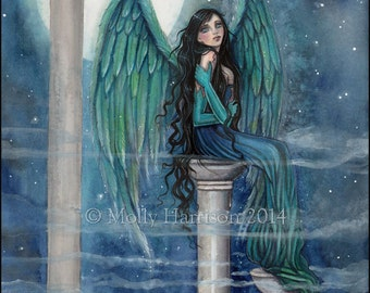 Spirit Guide Angel Original  Fine Art Giclee PRINT by Molly Harrison Fantasy Art
