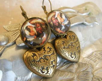 MI CORAZON Romantic Mexican Style Earrings