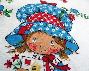 Vintage Kitsch Tea Towel -Hollie Hobbie To Mum with love - mother's day Tea Towel