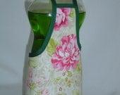 Rose Flower Garden Dish Soap Apron Bottle Cover Wrap Staffer Party Favor Lg
