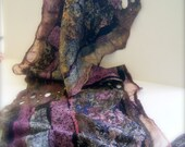 Nuno Felted Scarflette / Shawlette a SugarPlum Original by J. Gauger