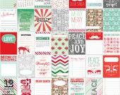 It's Christmas 2014 Project Life December Daily Printable Cards