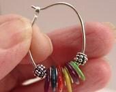 Dangle hoop beaded earrings SS