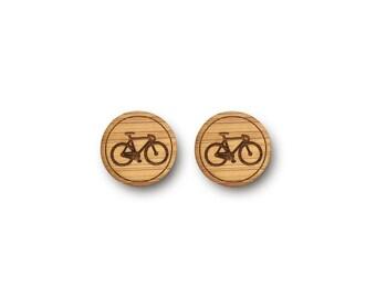 Mini Bicycle Earrings. Bike Earrings. Wood Earrings. Stud Earrings. Laser Cut Earrings. Bamboo Earrings. Gifts For Her. Gift For Women. Bike