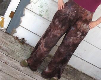 MADE TO ORDER Bambo Hemp Wide Leg Pants, Hand Dyed Pants