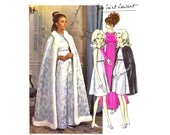 1960s Yves Saint Laurent Dress Queen Cape Vogue 1897 Vintage Sewing Pattern Vogue Paris Original LABEL INCLUDED Size 12 Bust 34 UNCUT