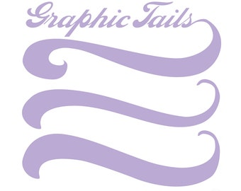 Graphic Tails Vector Cutting File svg pdf png