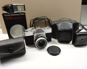 1960s Mamiya Sekor  528TL Film Camera with Accessories.