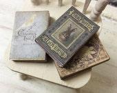 Dolls House Miniature Vintage Books Trio 1:12th scale