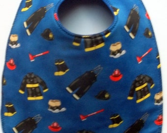 Fireman Equipment Baby Bib