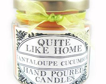 Cantaloupe Cucumber scented 4 oz. jar candle