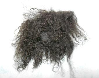 Tibetan Lamb Hair - Coffe - S021  - For Art Dolls OOAK