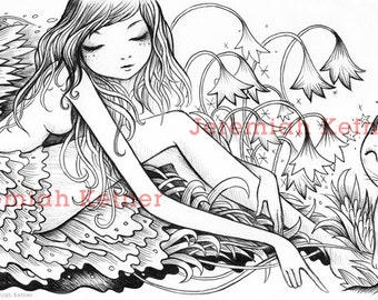 Here Kitty Kitty - Coloring Page