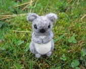 Needle Felted Koala Bear Miniature Figure