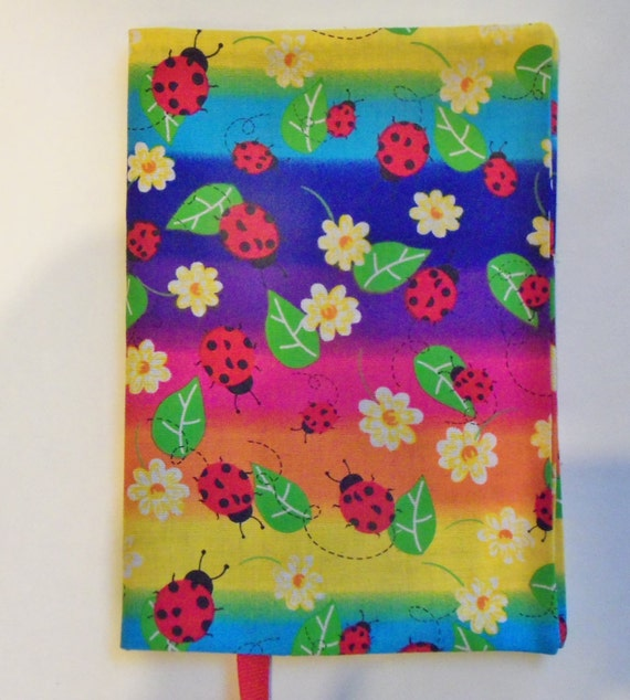 Fabric Book Cover Buy ~ Fabric book cover paperback lady bugs bright