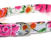XS Dog Collar - Retro Floral Splash - Extra Small, Teacup, Miniature - Cute, Pretty and Fancy
