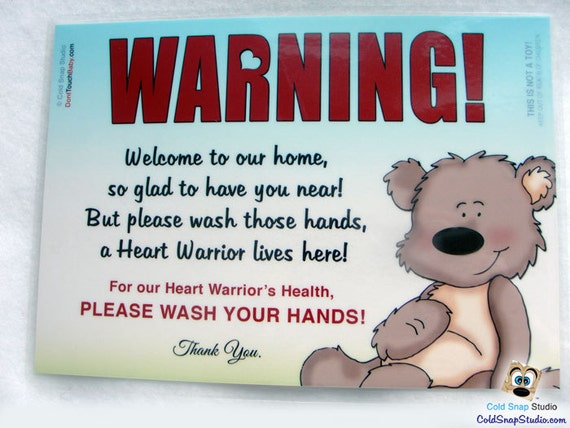 Chd Welcome Home Sign For Heart Warrior Households Wash Your