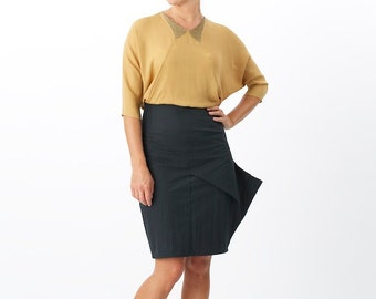 Fin Pencil Skirt - denim version in stock - on sale