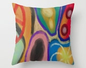 Funky Abstract Art Pillow Cover Pillow Case Decorative Pillow My Colorful Digital Painting