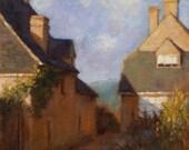 Morning Sun, landscape plein air oil painting 9x12in