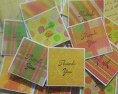Orange You Thankful mini thank you cards/gift tags set of 20