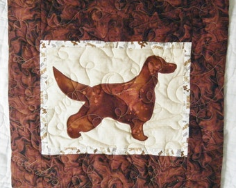 Irish Setter - Quilted Dog throw pillow 16 inches