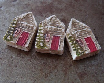 Holiday Cabin House Bead