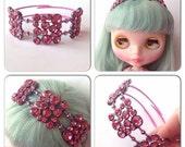 Custom listing for Jenny: Pink Fireworks headband for Blythe