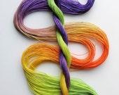 "Size 50 ""Crocus"" hand dyed thread 6 cord cordonnet tatting crochet cotton"