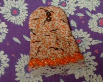 Blythe/DAL Doll Dress - Orange Skulls n'  - CLEARANCE ITEM