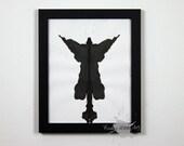 Inkblot Art Inspired by Rorschach Test ORIGINAL 8x10 Vertical/Portrait Orientation 9