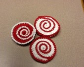 3 shell dish scrubbies - choose your colors