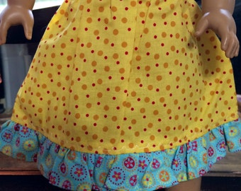 American Girl Doll Clothes - Yellow Springtime Skirt