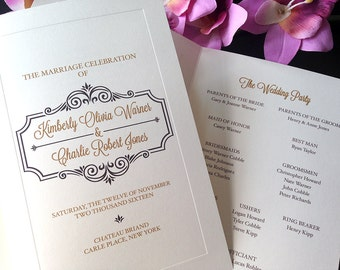 Cheerfully Vintage Wedding Ceremony Programs