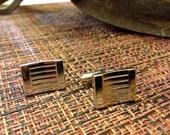 Vintage Cufflinks,  Silver Tone Cufflinks, Mens Cufflinks
