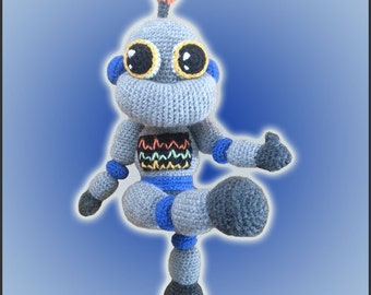 Amigurumi Pattern Crochet Robbie Robot DIY Digital Download