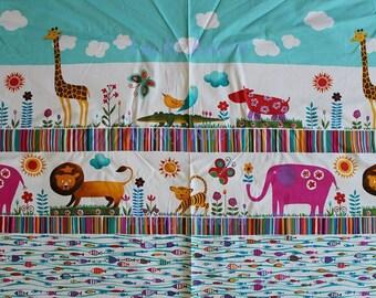 Alexander Henry Jungle Stripe Brite Multi OOP Fabric Panel