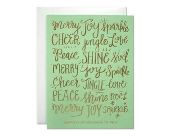 Happiest Holidays Foil Card