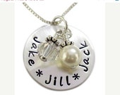 ON SALE Mommy Necklace - Hand Stamped Jewelry