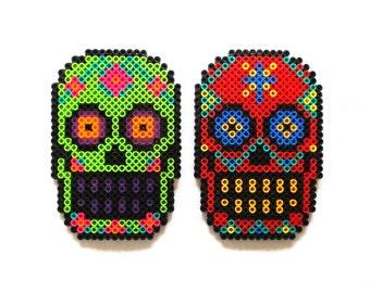 Sugar Skull Magnet Dia De Los Muertos Day of the Dead Calavera