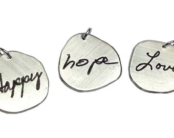 Actual Handwriting Charm Add-on by donnaodesigns