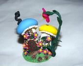 Whimsical Miniature Hand sculpted terrarium miniature garden Lovely Miniature mushroom house