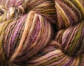 SPRING LILAC Handspun Wool Yarn Cheviot 184yds 3.25oz 10-12wpi aspenmoonarts DK worsted artyarn knitting