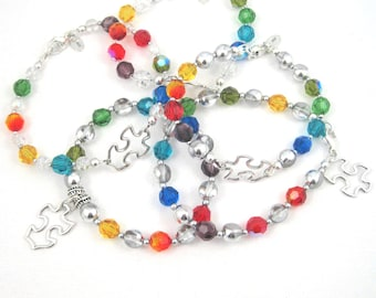 Autism Bracelet, Autism Jewelry, Charity Bracelet, Aspergers Jewelry, For Charity, Proceeds to Charity, Autism Awareness, for a Cause