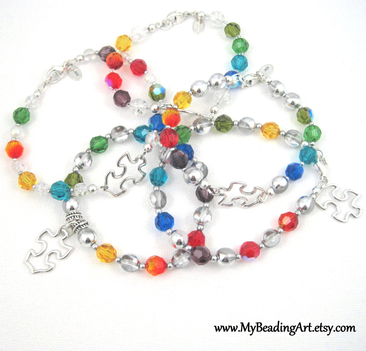 Autism bracelet autism jewelry charity bracelet aspergers for Jewelry that supports a charity